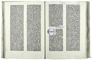 42-line Bible printed by Johann Gutenberg