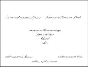Formula Modern wedding invitations with ad directly by the couple
