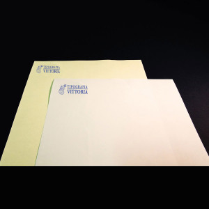 Letterhead letters printed in typography