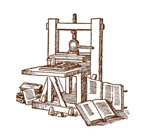 Design model of press pressure used by Johann Gutenberg