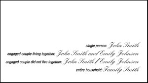 What and how to write the recipients and addresses on the envelopes of wedding announcements