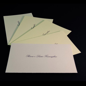 Thank you notes or cards courtesy of valuable printed typography