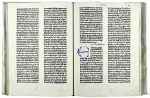 Bibbia a 42 linee stampata da Johann Gutenberg