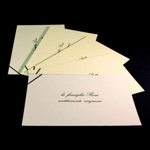 Biglietti di ringraziamento condoglianze lutto su cartoncini di pregio stampati tipografia