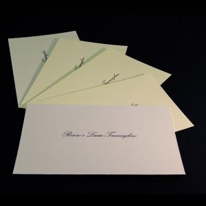 Biglietti di ringraziamento o cortesia su cartoncini di pregio stampati tipografia