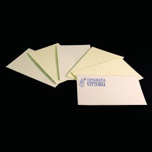 Biglietti da visita su cartoncini di pregio stampati tipografia