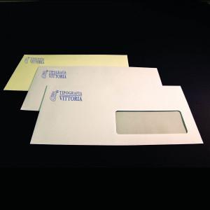 Buste intestate da lettere stampate in tipografia