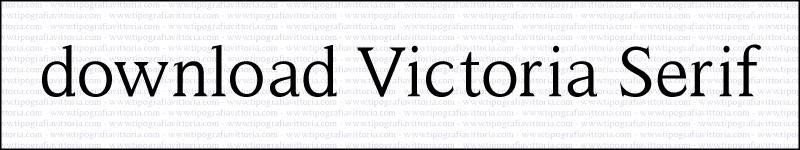 Premi sull'immagine per scaricare gratuitamente Victoria Serif