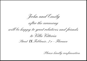 Example Of Invitation To The Wedding Reception Following